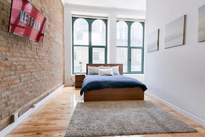 Incredible 2 Bedroom Old Montreal Loft