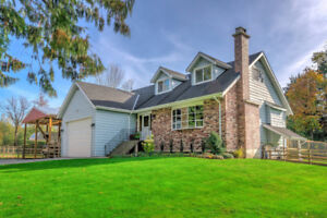 5 bed 3.5 baths house with level and cleared 3.85 acres