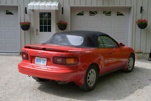1991 Toyota Celica GT convertible; red w electric, blk soft top