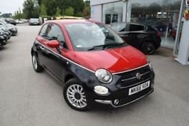 2016 Fiat 500 1.2 Lounge (s/s) 3dr Petrol black Manual