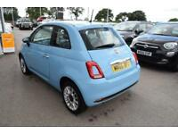 2017 Fiat 500 1.2 Pop Star (s/s) 3dr Petrol blue Manual