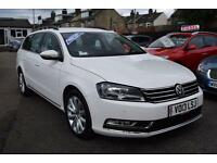 2013 Volkswagen Passat 2.0TDI 140 B/Motion Tech Highline, Estate, Diesel, White