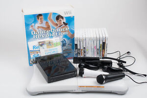 Wii Console Bundle w/ Wii Fit, Dance Pad, Microphones & More