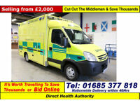 2008 - 08 - IVECO DAILY 50C18 3.0HPI WILKER BODY AMBULANCE / CAMPER(GUIDE PRICE)