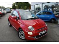 2017 Fiat 500 1.2 Lounge (s/s) 3dr Petrol red Manual
