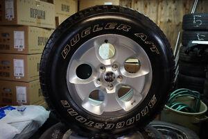 Jeep Wrangler OEM Alloys + Bridgestone Tires