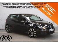 Volkswagen Golf 2.0TDI 140BHP BlueMotion Tech Match-F+R PARKING-CRUISE-B/TOOTH-