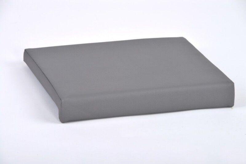 Klemmkissen mit 1 Leiste grau Kunst-Leder B 40cm T 35cm / 38cm - auch Sondermaße