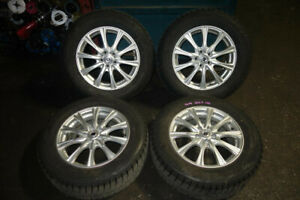 "JDM Subaru 5x100 Rims & Winter Tires 16"" 6.5 215/60R16"