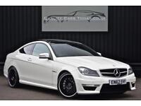 2013 Mercedes C63 AMG Coupe 6.2 V8 *Diamond White + Designo Black + High Spec*