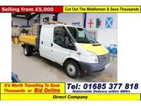 2012 - 12 - FORD TRANSIT T350 2.2TDCI 125PS LWB DOUBLE CAB TIPPER (GUIDE PRICE)
