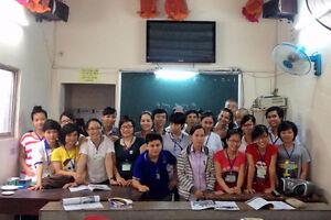 Teaching English to underprivileged children in Vietnam