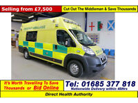 2010 - 60 - PEUGEOT BOXER 3.0HDI AMBULANCE / CAMPER CONVERSION (GUIDE PRICE)
