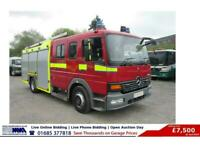 2004 MERCEDES Atego 4X2 14TON 6 SEAT CREW CAB FIRE TENDER (GUIDE PRICE) Fire Ten