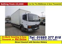 2005 - 05 - MERCEDES ATEGO 815 4X2 7.5TON BOX LORRY C/W DEL TAIL LIFT