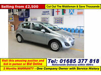 2011 - 61 - VAUXHALL CORSA 1.0 ECOFLEX 5 DOOR HATCHBACK (GUIDE PRICE)