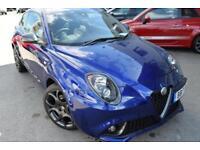 2017 Alfa Romeo Mito 1.4 TB MultiAir Veloce ALFA TCT (s/s) 3dr Petrol blue Semi