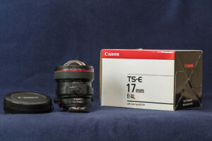 Canon TS-E 17mm f/4L tilt-shift lens (excellent condition)