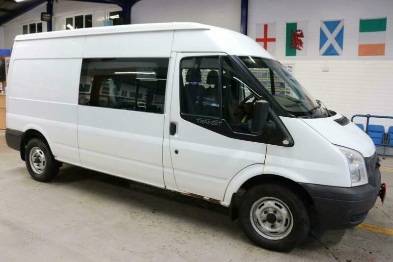 c3c10251ce 2013 - 13 - FORD TRANSIT T350 2.2TDCI 125PS LWB 6 SEAT CREW VAN (GUIDE  PRICE)