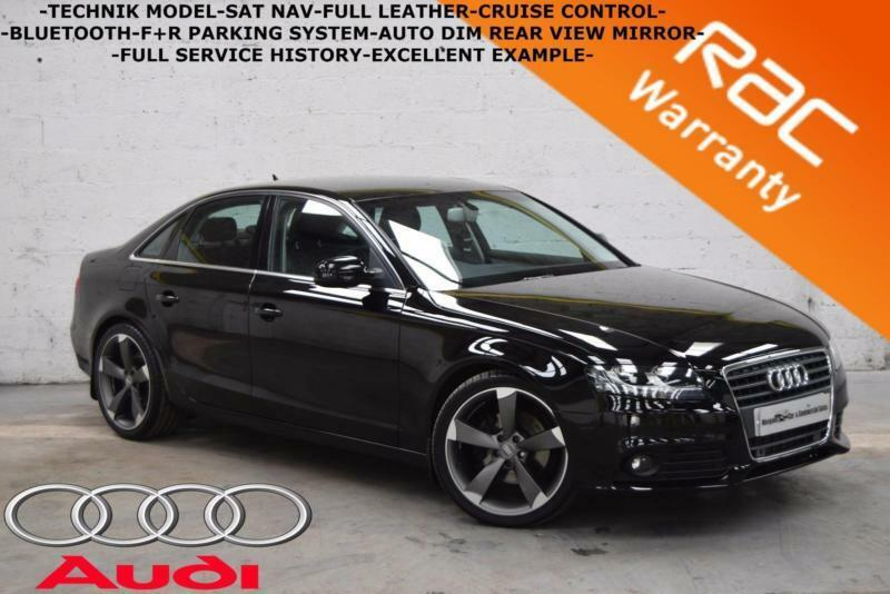 2011 Audi A4 2.0TDI Technik-SAT NAV-LEATHER-F+R PARKING SYSTEM-FULL HISTORY-