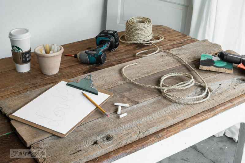 Supplies needed: Make a cool DIY Rope Sign... in minutes! By Funky Junk Interiors for eBay