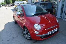 2015 Fiat 500 1.2 Cult (s/s) 3dr Petrol red Manual