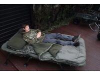 nash emperor carp fishing double bedchair