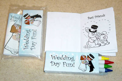 12 KIDS WEDDING SHOWER COLORING FUN GAMES ACTIVITY - Fun Wedding Shower Games