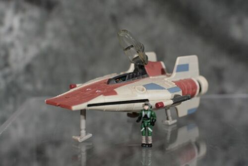1995 Star Wars Action Fleet A-WING FIGHTER With FIGURE  & FREE SHIPPING
