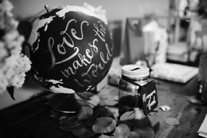 Globe Wedding Decor - Love makes the world go round!