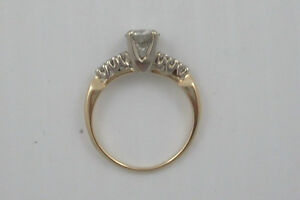 Antique Diamond Engagement Ring and Wedding Band