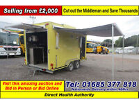 DIRECT HEALTH AUTHORITY LYNTON TWIN AXLE CATERING TRAILER (GUIDE PRICE)