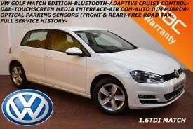 2014 Volkswagen Golf 1.6TDI ( 105ps ) BMT (s/s) Match-FULL VW SERVICE HISTORY-