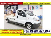 2008 - 08 - RENAULT TRAFIC 2.0DCI 115PS FLATBED MILK FLOAT (GUIDE PRICE)