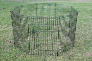 "24"" Dog Rabbit Playpen Exercise Puppy Enclosure Fence"