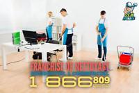 Franchise de Nettoyage Disponible Montréal Rive Nord & Sud