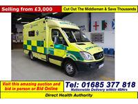 2008 - 08 - MERCEDES SPRINTER 515 2.2CDI AUTO UV MODULAR BODY AMBULANCE / CAMPER