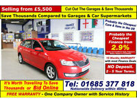 2014 - 14 - SKODA RAPID SPACEBACK SE 1.6TDI CR 5 DOOR HATCHBACK (GUIDE PRICE)
