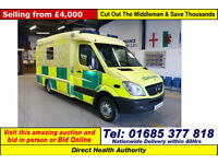 2007 MERCEDES SPRINTER 515 2.2CDI ATT PAPWORTH BODY AMBULANCE / CAMPER