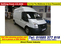 2007 - 07 - FORD TRANSIT T350 2.4TDCI 115PS HIGH TOP LWB VAN (GUIDE PRICE)