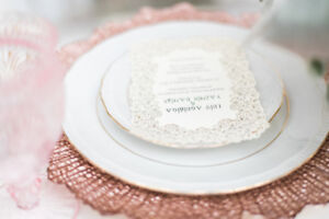 Wedding rentals CHARGER PLATES & MORE