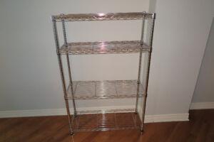 """Stainless Steel Wire Shelf 36"""" Étagère à 4 tablettes"""