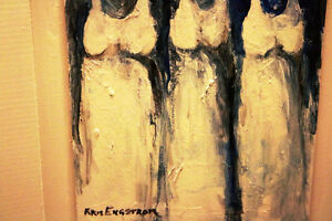 A PAIR OF KRIS ENGSTROM ORIGINALS THE GIRLS & THE GIRLS ARE GONE Moose Jaw Regina Area image 4