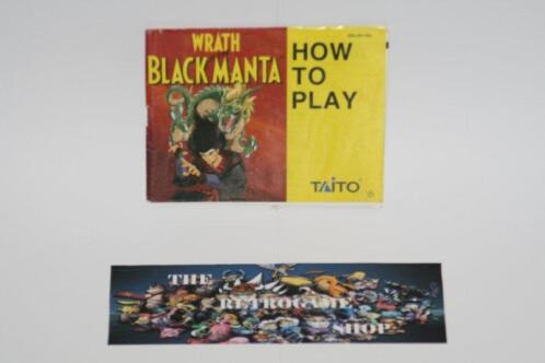 Wrath of the Black Manta ( Manual Only) (Nes Handleidingen)
