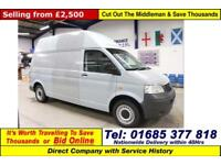 2006 - 06 - VOLKSWAGEN TRANSPORTER T30 2.5TDI 130PS LWB HI TOP VAN (GUIDE PRICE)