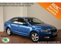 OCT 14 Skoda Octavia 2.0TDI CR (150ps)SE Business-HEATED SEATS-NAV-B.TOOTH-FSSH
