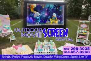 INFLATABLE SCREENS - Outdoor Movie Nights for ALL crowd sizes