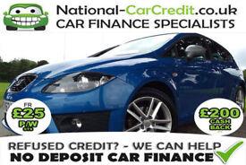 SEAT Leon 2.0 TDI CR FR 140PS Good / Bad Credit Car Finance (blue) 2012