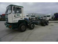 MAN/ ERF ECO 320 8X4 CHASSIS CAB HUB REDUCTION AXLES STEEL SUSPENSION