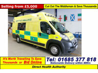 2010 - 60 - PEUGEOT BOXER 440 3.0HDI L4H3 OH BODY AMBULANCE (GUIDE PRICE)